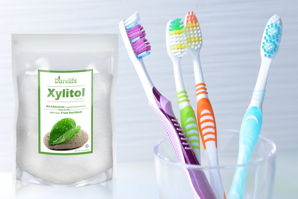 DureLife Birch XYLITOL Sugar Substitute 5 LB Bulk Size (80 OZ) Made From Pure Birch Xylitol In The USA , NON GMO - Gluten Free - Kosher , Packaged In A Large Resealable zipper lock Stand Up Pouch Bag by DureLife (Image #7)