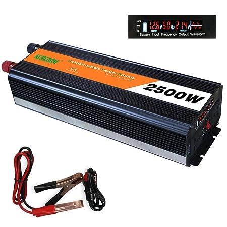 WDYu 2500W Car Power Inverter Convertidor del Coche DC 12 ...