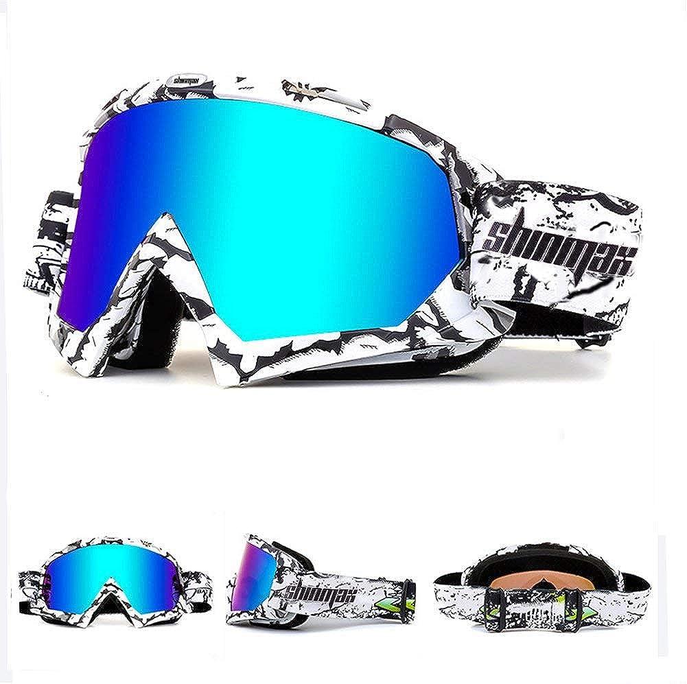 Shinmax Skibrillen Winddicht Brille Unisex Motocross Sports Schutzbrillen Bekleidung