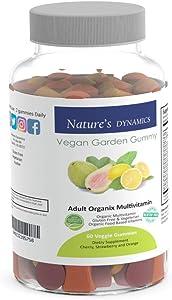 Natures Dynamics Vegan Garden Gummy Adult Organic Multivitamin, 60 Count