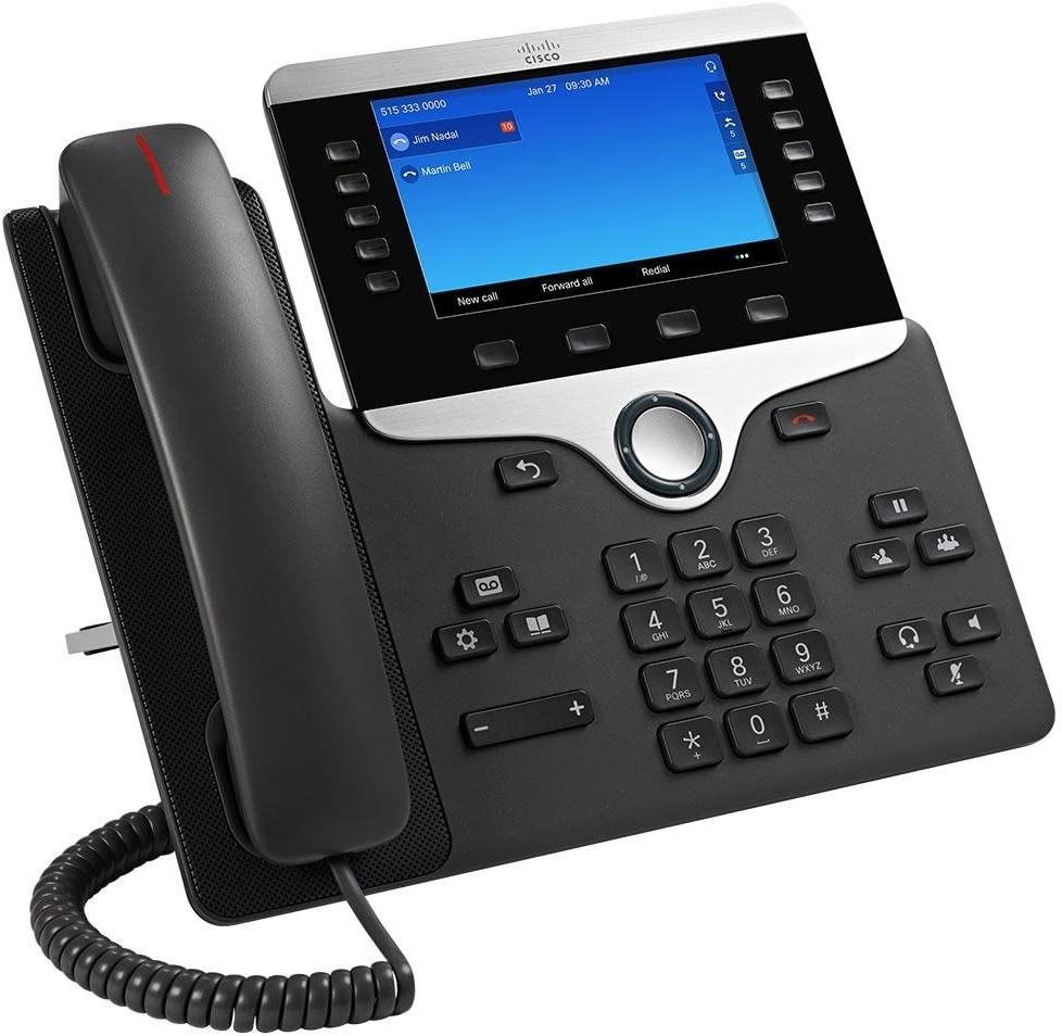 """Cisco CP-8811-K9 IP VOIP PHONE 5/"""" Color Screen W// Stand"""