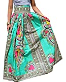 M&S&W Women Maxi Skirts Africa Print Dashiki High Waist Pleated A-line Skirts 1 S