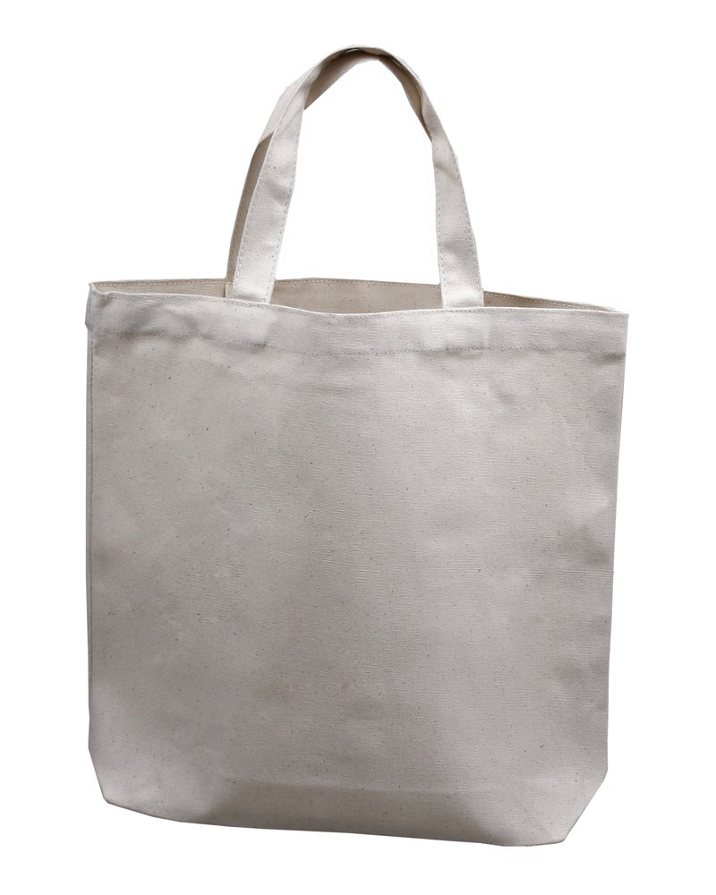 Medium Tote Bag 14''x13''x3'', Natural Color, 100% Cotton Canvas - Pack of 12 by Bumble Crafts (Image #2)