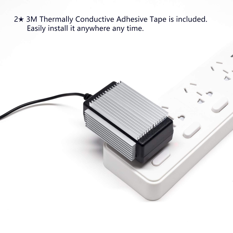 Plateado Plata 22x22mm 6 Packs Akineko Aluminio Kit de refrigeraci/ón para disipador de Calor