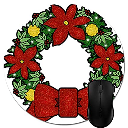 amazon com game mouse pads christmas clip art christmas wreath rh amazon com christmas wreath clipart transparent background christmas wreath clipart png