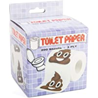 Koolface Smiling Poo Novelty Toilet Paper, White/Brown