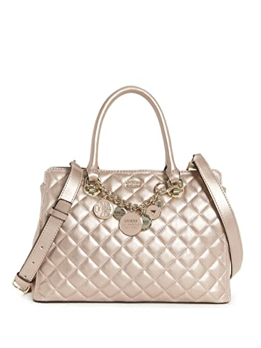 GUESS Victoria Luxury Satchel Champagne: Amazon.co.uk: Shoes