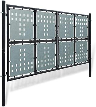 Cancela para valla doble negro 300 x 250 cm Valla Jardín Nice Puerta Puerta Jardín Garaje Exterior: Amazon.es: Bricolaje y herramientas