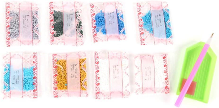Decdeal 5D DIY Diamant Malerei Stickerei Diamant Malen nach Zahlen Kits L/öwenzahn 30 x 30cm
