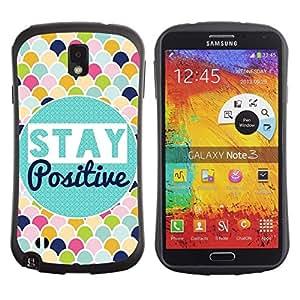 "Pulsar iFace Series Tpu silicona Carcasa Funda Case para Samsung Note 3 , Manténgase Modelo de la escala positiva colorido"""