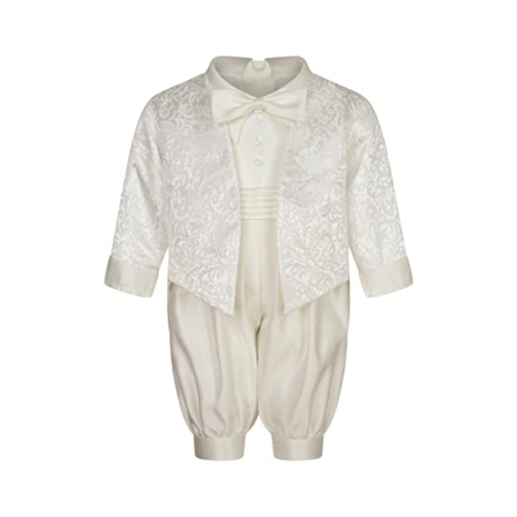 c9c411d02 Lucas Christening Romper in Ivory: Amazon.co.uk: Clothing
