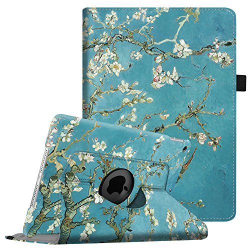 Fintie iPad mini 1/2/3 Case - 360 Degree Rotating Stand Case Cover with Auto Sleep / Wake Feature for Apple iPad mini 1 / iPad mini 2 / iPad mini 3, Blossom