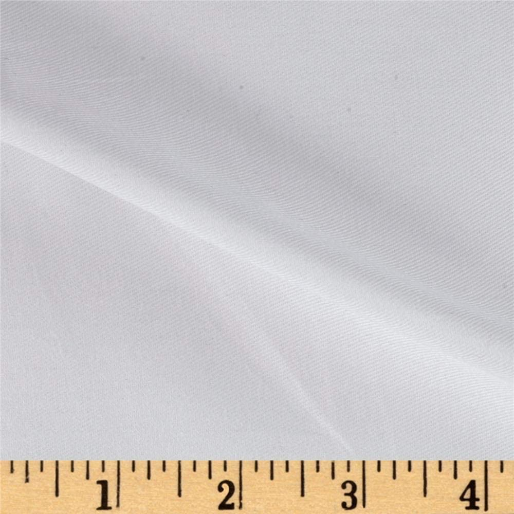 Textile Creations Cotton Twill White Fabric By The Yard