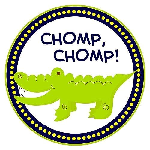 alligator sticker labels crocodile boy girl birthday baby shower party favor labels set of