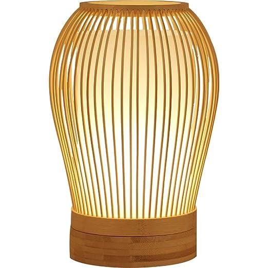 LAZ Lámpara de mesa Lámpara de escritorio de bambú Restaurante ...