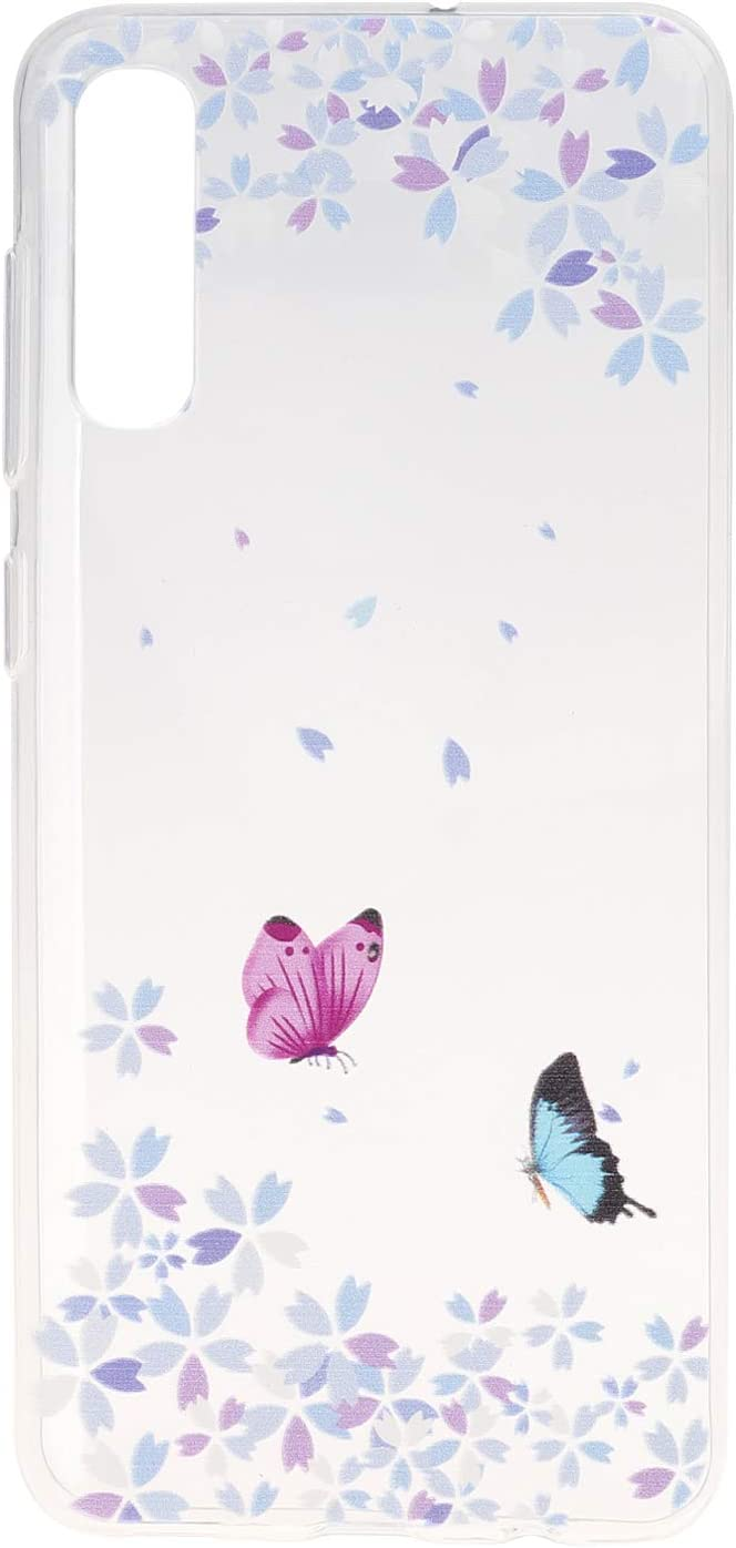 For Galaxy A50 Case Cute Clear Women Girls Pretty Pink Pattern Cover Transparent Soft TPU Shockproof Bumper Protective Case for Samsung Galaxy A50 Compatible for Galaxy A50 Pattern Case Silicone gel
