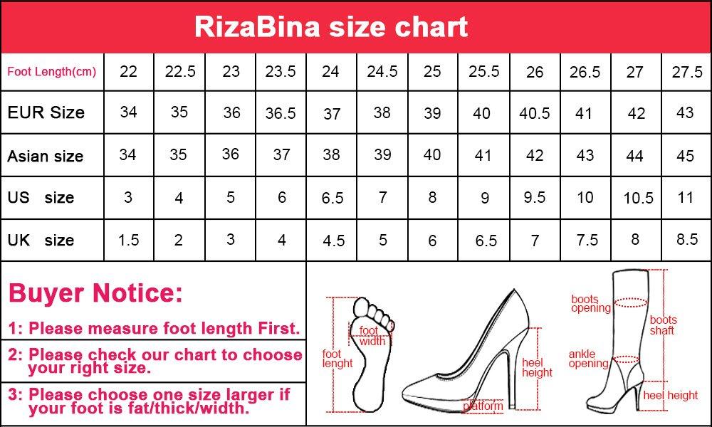 RizaBina Women Comfort Warm Lined Winter Tall Boots Belt B076BQKY9W 8 US = 25 CM|Black