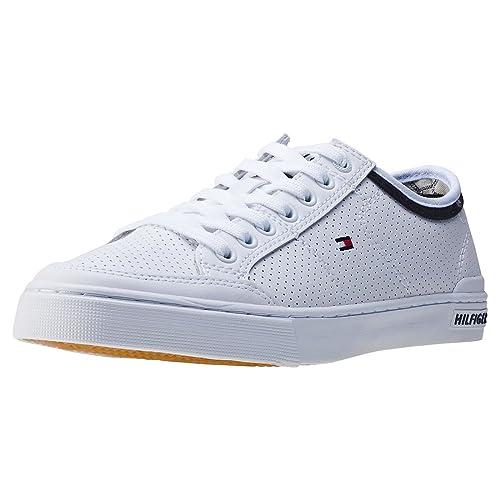 Tommy Hilfiger Core Corporate Leather Sneaker, Zapatillas para Hombre: Amazon.es: Zapatos y complementos