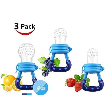 Amazon.com: Bebé frutas alimentador chupete tetina de ...