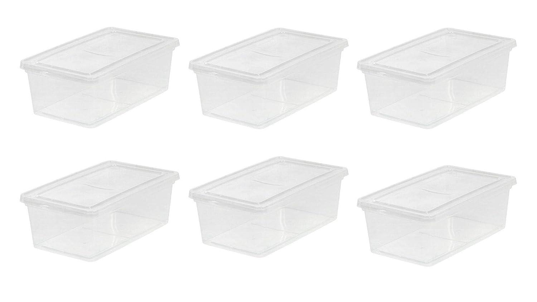 IRIS 6 Quart Clear Storage Box 6 Box