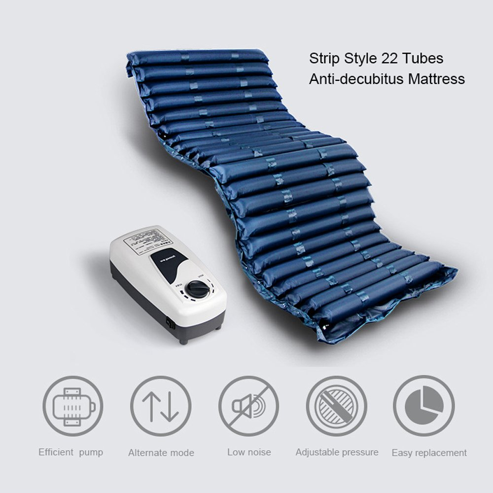 Amazon.com: yuwell Strip Style 22 Tubes Anti-decubitus Mattress Alternating Pressure Mattress Replacement for Pressure Ulcers Bed Sores,FDA Certified: ...
