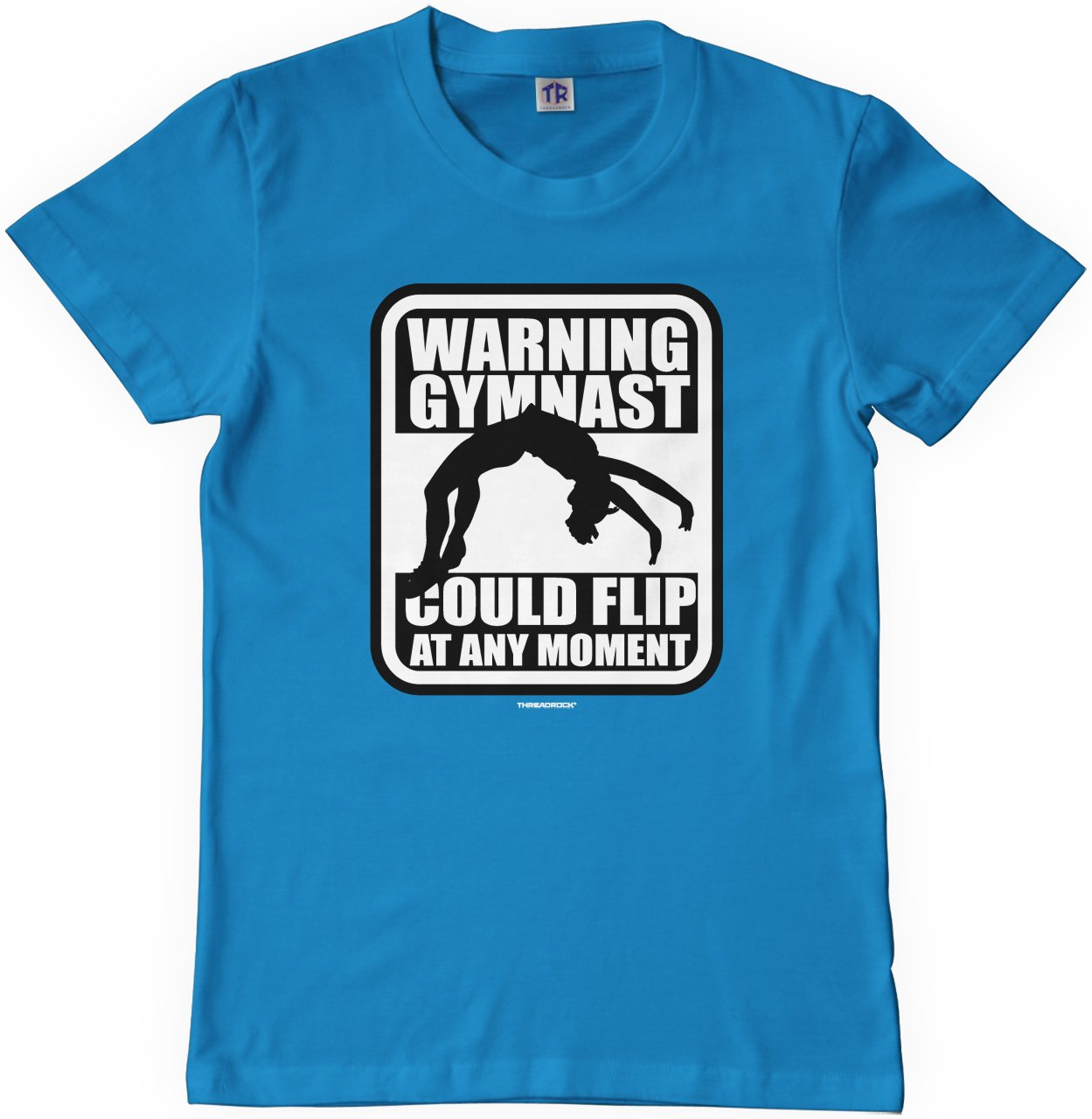 Threadrock Big Girls This is My Handstand Shirt Fitted T-Shirt