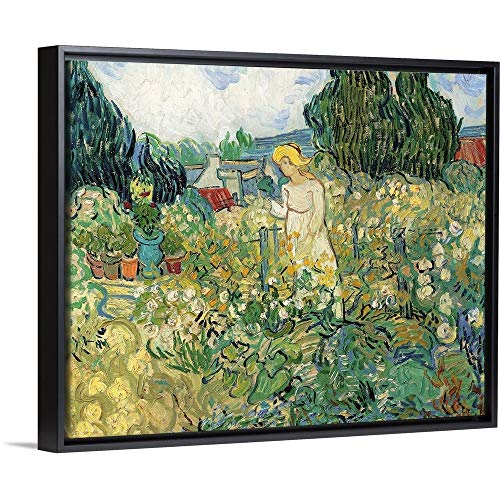 CANVAS ON DEMAND Mademoiselle Gachet in Her Garden at Auvers, by Vincent Van Gogh, 1890. Musee D'Orsay Black Flo.