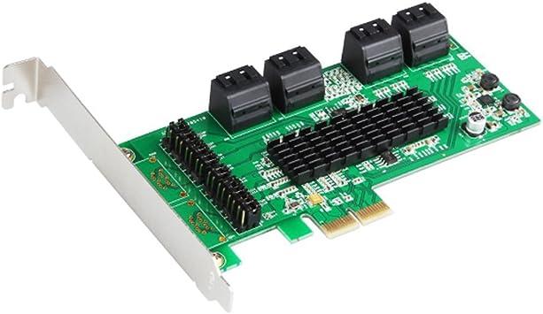 PCI-e 16 ports SATA 3.0 SSD card PCI express to SATA 6Gb Marvell Controller