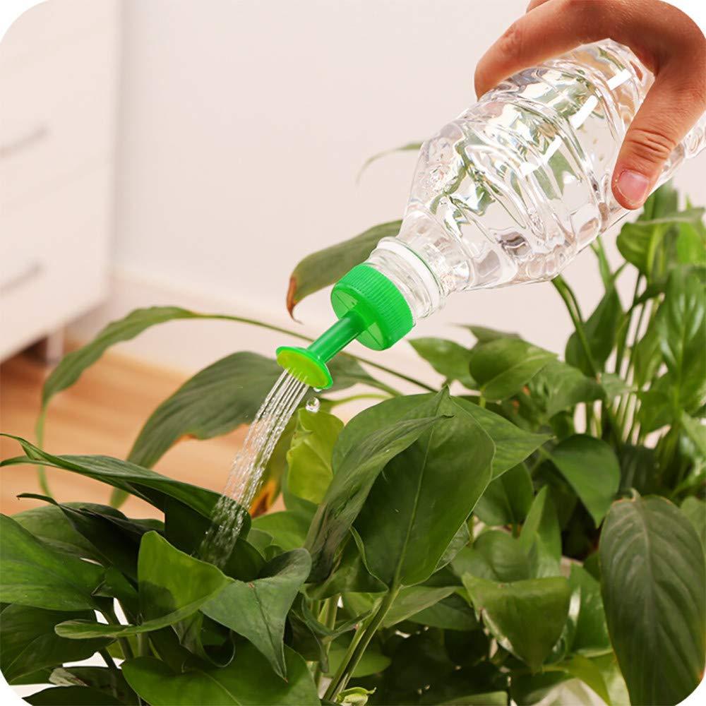 2PC Bottle Top Watering Garden Plant Sprinkler, WaiiMak Water Seed Seedlings Irrigation (Green)