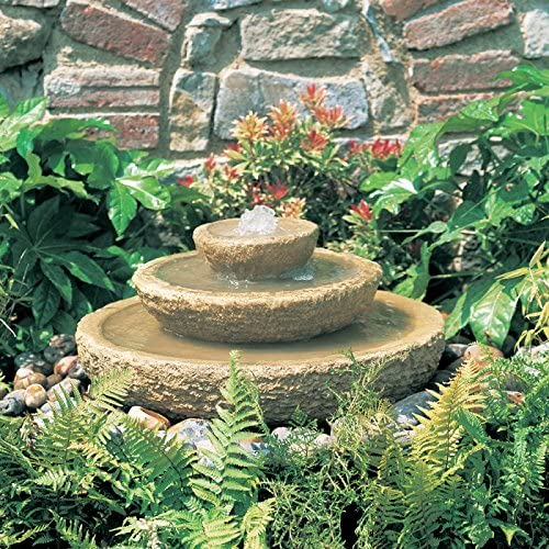 Jardín sueño pequeño jardín fuente de piedra, 81, 5 cm, color ocre: Amazon.es: Jardín
