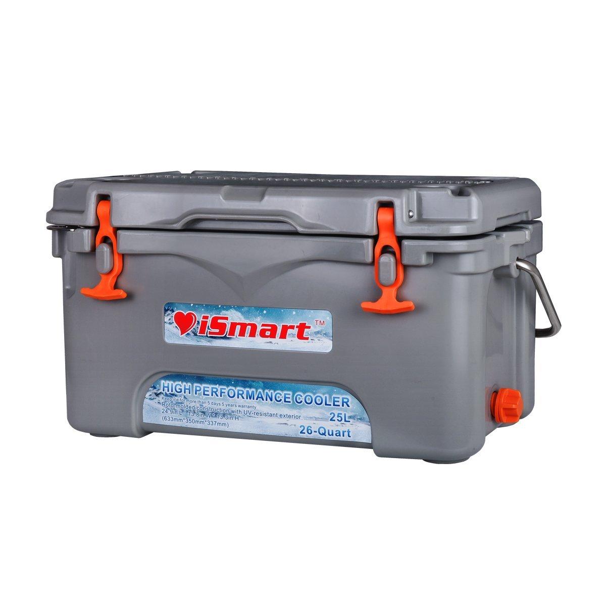 iSmart 26 Quart Ice Chest Rotomolded Best Cooler Box with Bottle Opener