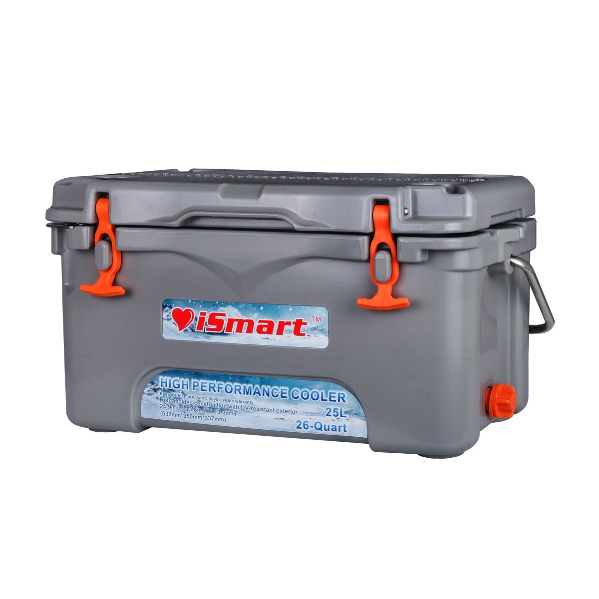 Ismart 25l 26 Quart Ice Chest Rotomolded Cooler Box With