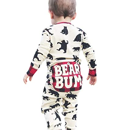 fdfa8cdfd059 Unpara Winter Infant Bear Bum Baby Romper Newborn Toddler Boys Girls  Cartoon Jumpsuit Clothes Outfits (