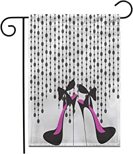 "rouihot Home Decor 12""x18"" Garden Flag Shoe High Heels Girl Sexy Stiletto Feminine Sketch Glamour Outdoor Yard Flags Banner for Patio Lawn Double Sided"