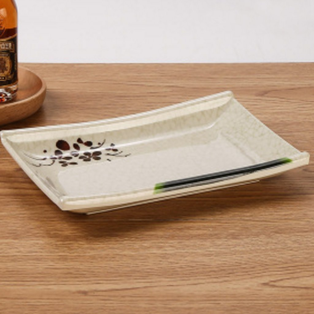 Kaxima Melamine dish imitation porcelain tableware rectangular plate hotel restaurant KTV snack plate plastic plate