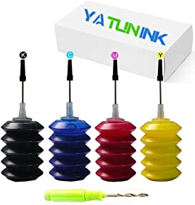 YATUNINK Premium Refill Ink Kit Replacement for HP 65xl Ink Cartridge for HP DeskJet 3755 DeskJet 2655 3752 3720 2622 2624 2652 3723 3730 3732 3755 3758 Envy 5055 Envy 5052 Envy 5058 Printer (4x30ML)