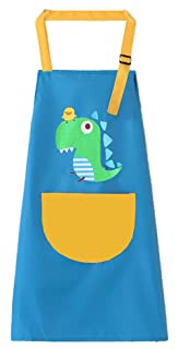 Waterproof Cartoom Cotton Apron Painting Chef Kitchen Cooking Baking Apron for Kids#707 BLANCHO BEDDING