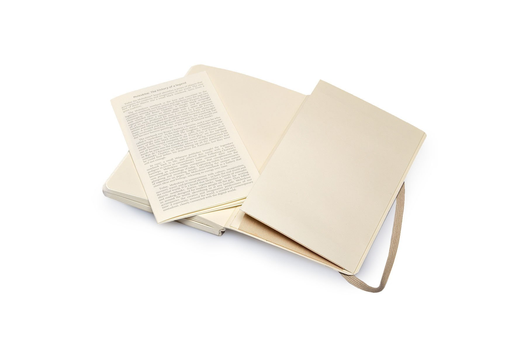 Pack of 3 Moleskine Classic Colored Notebook, Pocket, Ruled, Khaki Beige, Soft Cover (3.5 x 5.5)