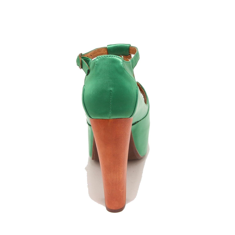 Jeffrey Campbell Damenschuhe 3357I Sandalei Damenschuhe Campbell Foxy Wood Schuhe Schuhes Damens Verde e30f95
