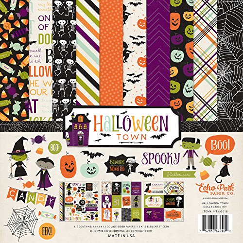 Halloween Scrapbooking Paper (Echo Park Paper Company Halloween Town Collection Kit)