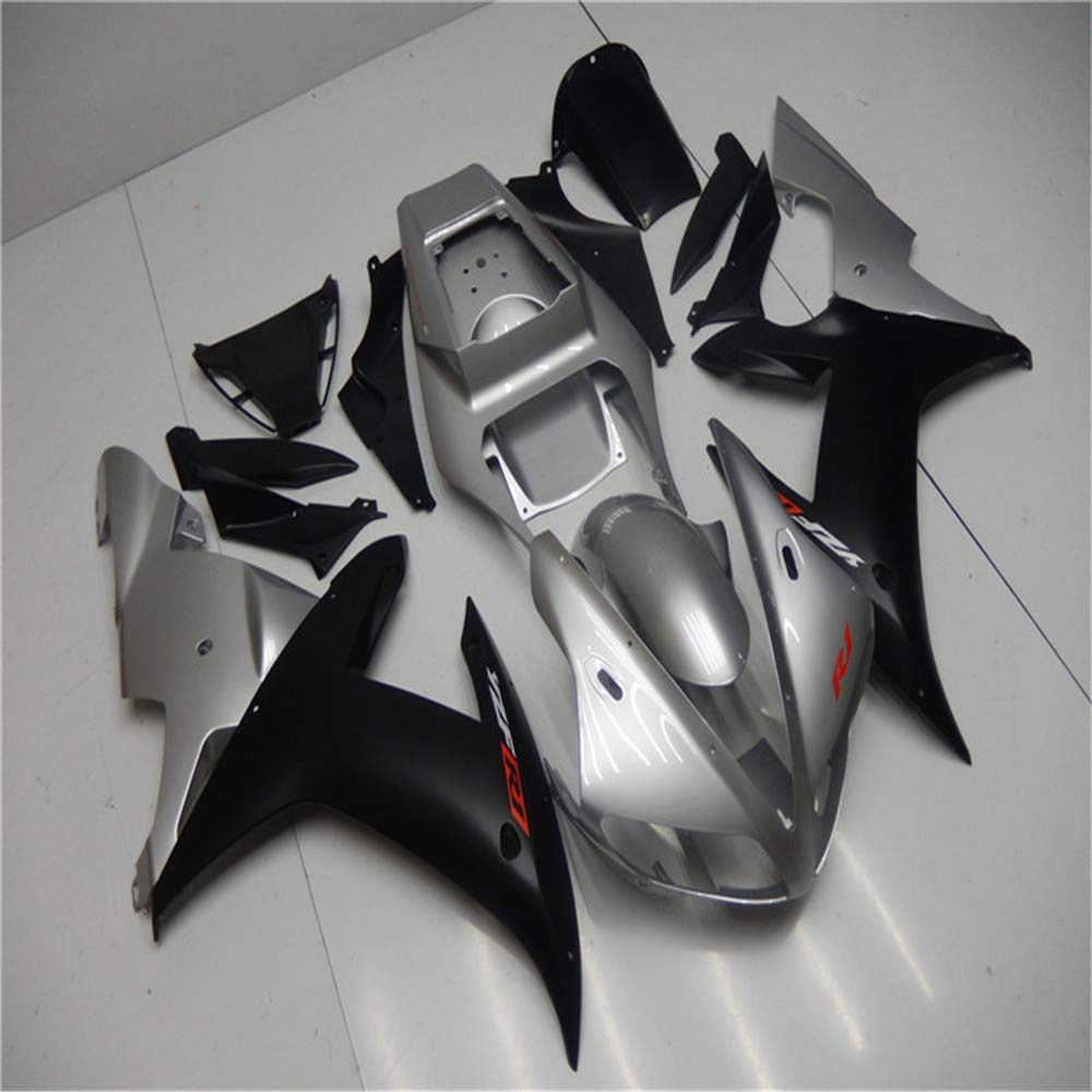 NT FAIRING Silver Black Injection Mold Fairing Fit for Yamaha 2002 2003 YZF R1 R1000 YZF-R1 New Painted Kit ABS Plastic Motorcycle Bodywork Aftermarket