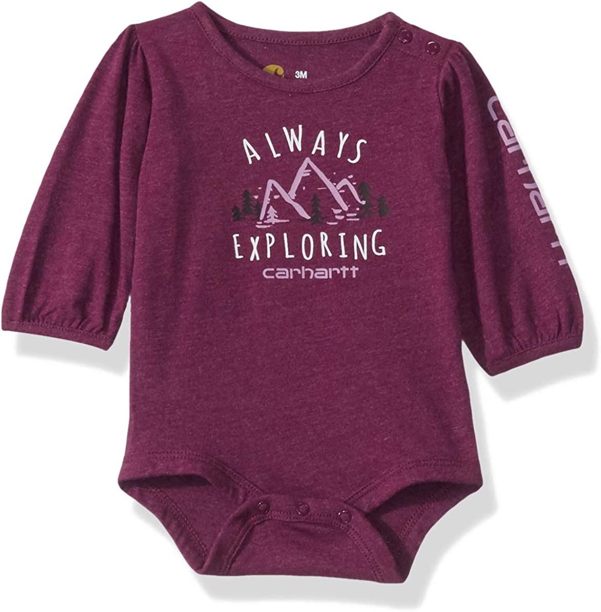 Carhartt Baby-Girls Long Sleeve Bodysuit Shirt