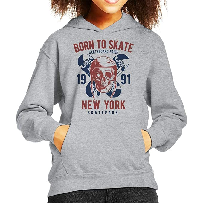 Coto7 Born To Skate Skateboard Pride Kids Hooded Sweatshirt: Amazon.es: Ropa y accesorios