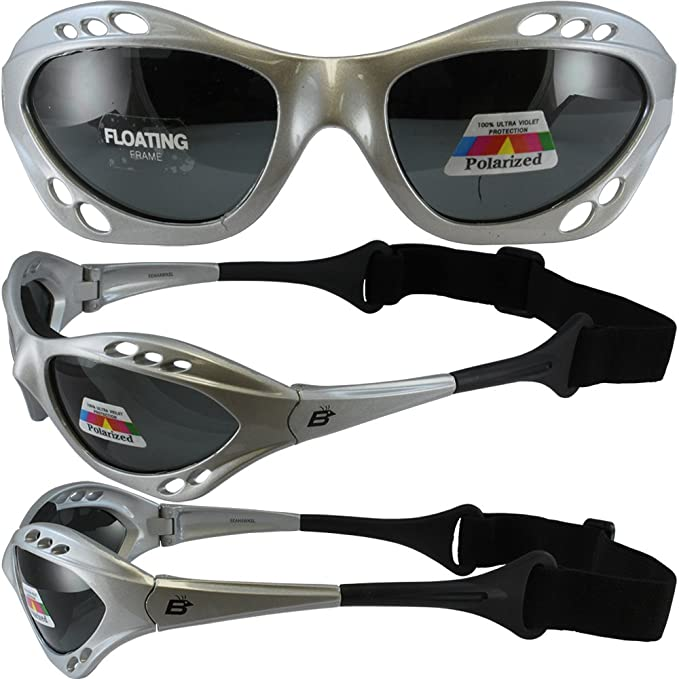 e73c8c4ee145 Amazon.com: Silver Polarized Sunglasses Floating Water Jet Ski Goggles  Sport Designed for the demands regularly encountered while Kite Boarding,  Surfer, ...