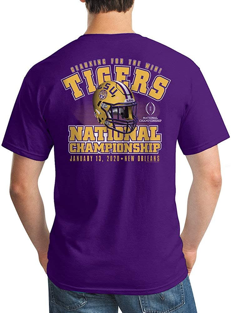 Elite Fan Shop LSU Tigers National Championship Champs Tshirt 2019-2020 Championship Bound