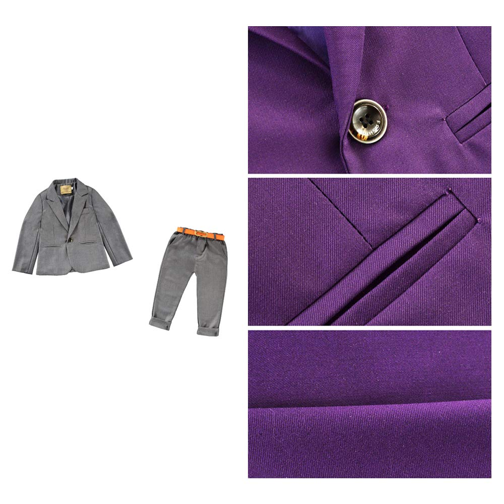 Page Boy Suit 3-8 Years BOZEVON Boys Grey Suit Boys Wedding Suit