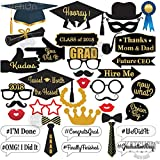 KATCHON Graduation Photo Booth Props - 2018 Graduation Decorations for Graduation Party Supplies 2018, Class of 2018, Congrats Grad, Large Size for More Fun, 38 Count