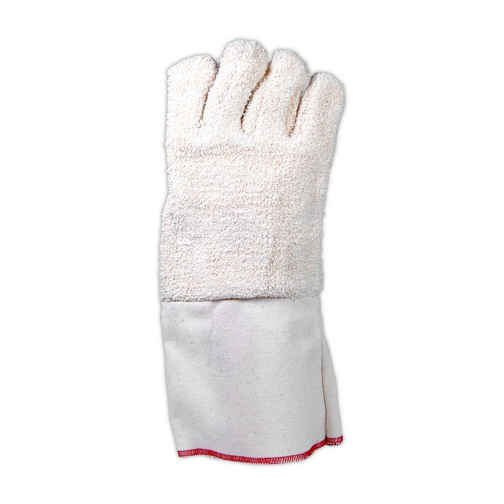 Fits Large Mens Pack of 12 Magid Glove /& Safety T942DG Extra Heavy Weight Terrycloth Gloves White