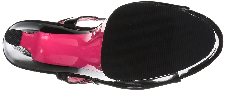 Pleaser Women's Sky-309tt Sandal H. B074G3FDKS 9 B(M) US|Black Patent/Blk-neon H. Sandal Pink 6d6e72