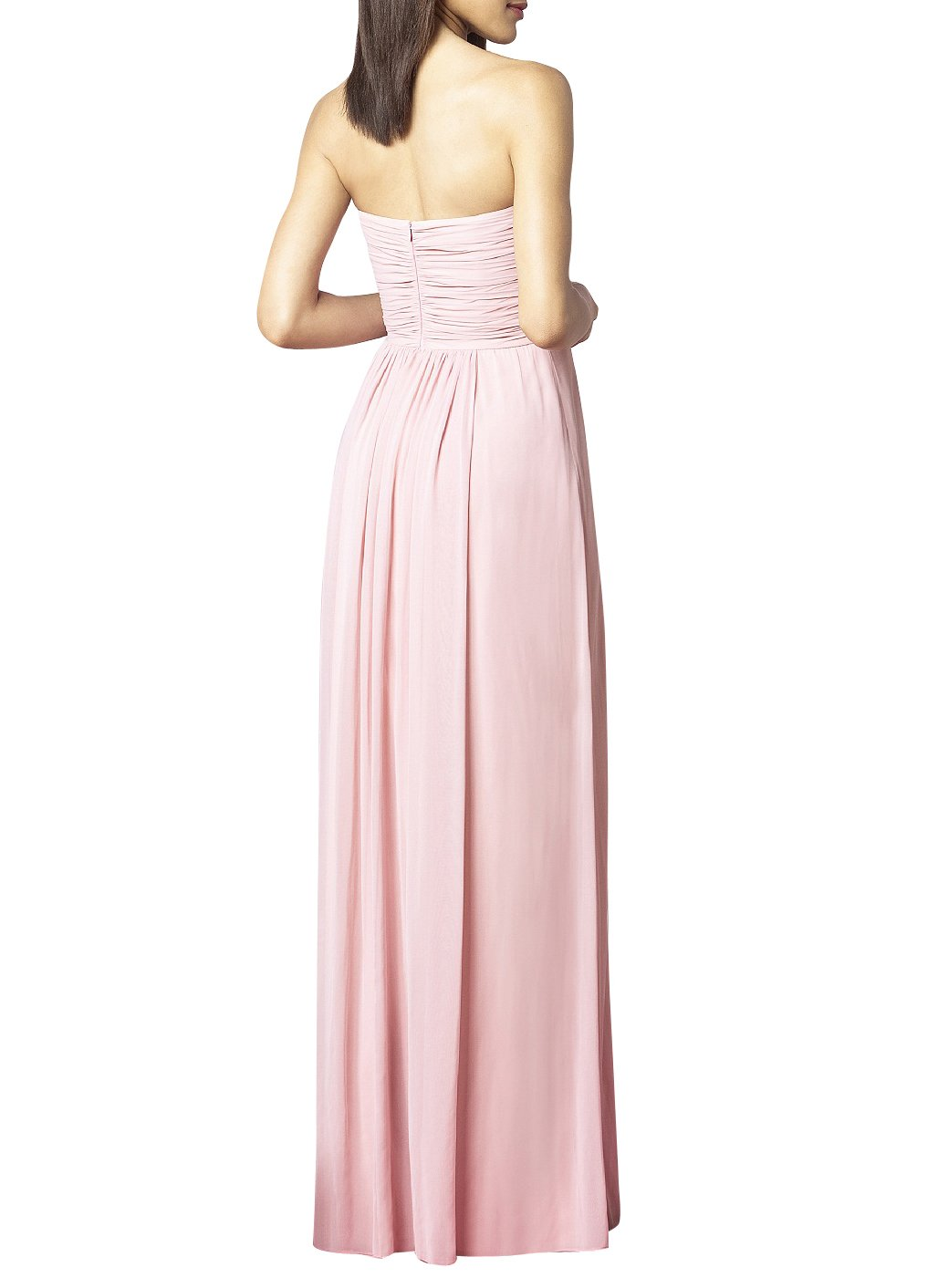 Yinhan Womens Floor Length Strapless Long Bridesmaid Dresses Prom Dresses Coral US 14 at Amazon Womens Clothing store: